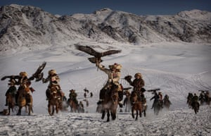 Eagle Hunters of Western China by Kevin Frayer