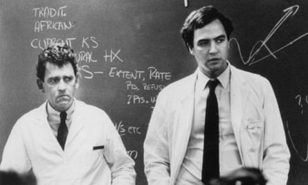 Marcus Conant (left) and Paul Volberding, among the first physicians to diagnose and treat Aids patients, in 1981.