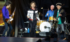 The Rolling Stones in concert at the London Stadium in 2018.
