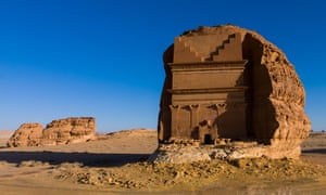 A tomb at Madâin Sâlih, a Unesco world heritage site, near Saudi Arabia's north-western town of Al-Ula.