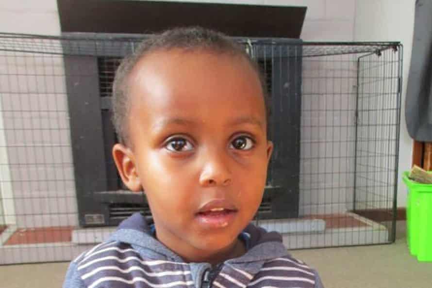 Three-year-old Mucad Ibrahim