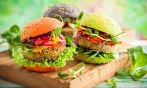 Burgers at VegFest, Brighton