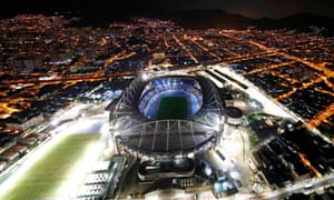 An aerial view of the Olympic Stadium in Rio de Janeiro.