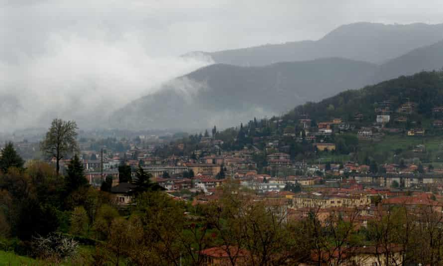 A view over Bergamo, Italy