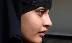 Shamima Begum being interviewed in eastern Syria.