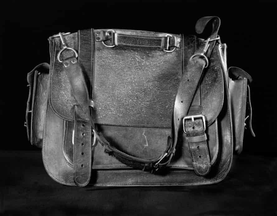 Tony Hudson's leather bag