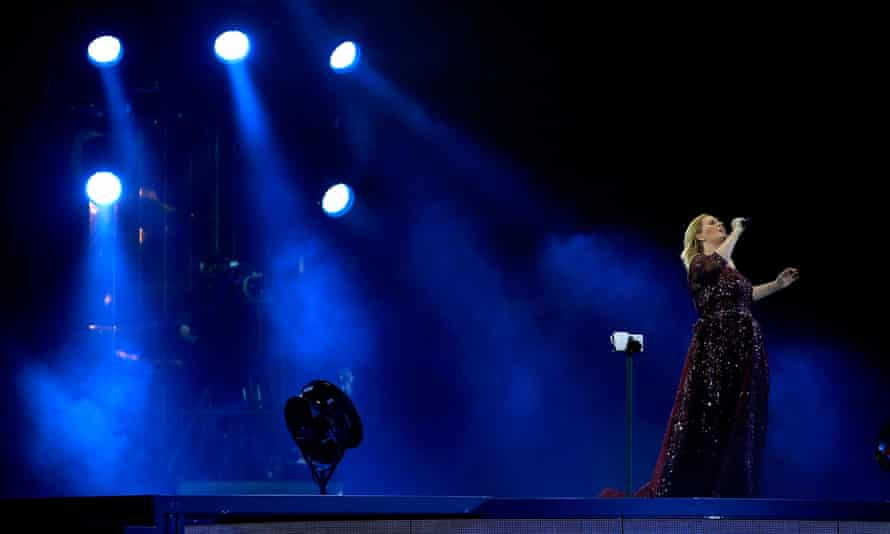 Adele performing live at Mt Smart Stadium in Auckland, New Zealand. A disabled fan who bought the concert ticket through Viagogo for the wheelchair-accessible section instead got in gallery.