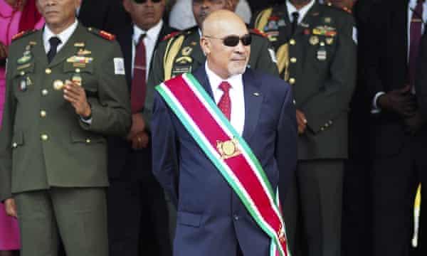 """Suriname's controversial former president Desire """"Desi"""" Delano Bouterse"""