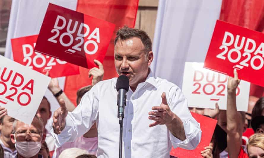 President of Poland, Andrzej Duda in Wroclaw.