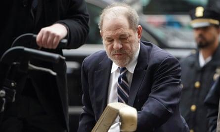 Harvey Weinstein arrives at court in New York City Thursday.