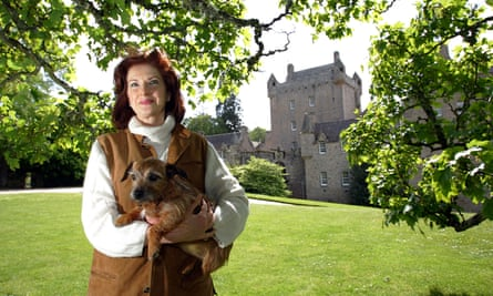 The Dowager Countess of Cawdor at Cawdor Castle, Nairn, Scotland.