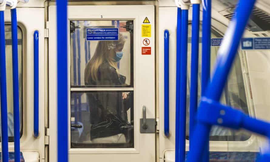 A woman on the London underground on 27 April