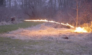 A flamethrower drone from Throwflame.