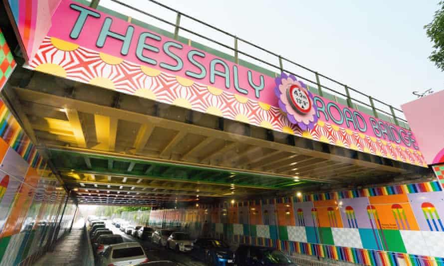 Happy Street by Yinka Ilori in Battersea's Thessaly Road, London