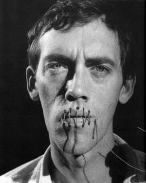 David Wojnarowicz's 1989 self-portrait, silence = death.