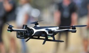 Consumer drone in flight