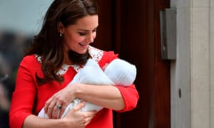Duchess of Cambridge with new baby boy