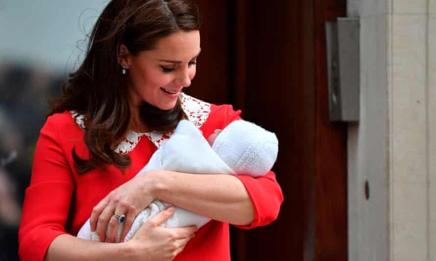 Duchess of Cambridge with new baby boy