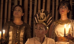 Eternal relevance … Ayesha Dharker, Adjoa Andoh and Leila Farzad in Richard II.