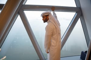 Hassan Al-Thawadi, Secretary General of the Supreme Committee for Delivery and Legacy, looks out over the Arabian Gulf from his office on the 37th floor of Al Bidda Tower.