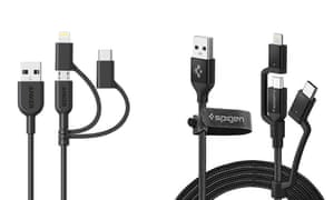Multi-head charging cables