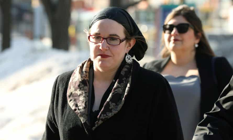 The former hostage Caitlan Coleman, the estranged wife of fellow hostage Joshua Boyle, arrives at the courthouse for his criminal trial in Ottawa on Wednesday.