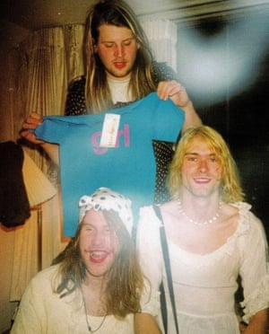'He was touched by greatness' ... Kurt Cobain, right, with Lanegan, front, and Dylan Carlson in 1992.