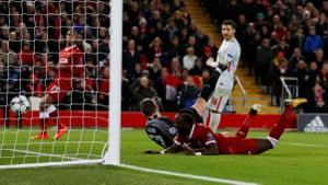 Mane rushes in and connects to score the sixth.