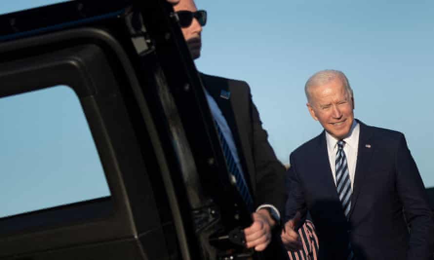 President Joe Biden walks to his armored limo on his arrival at Royal Air Force Mildenhall, Suffolk, England on Wednesday, ahead of the three-day G7 Summit.