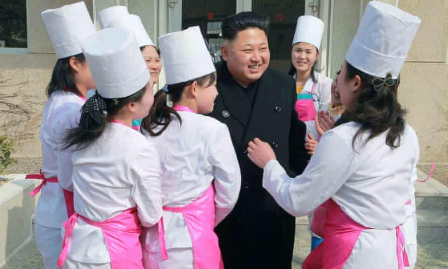 The North Korean leader, Kim Jong-un, inspects a unit of the Korean People's Army earlier this year.