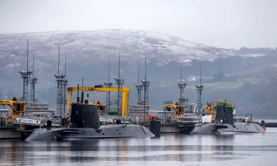 The Trident nuclear base in Faslane, Scotland.