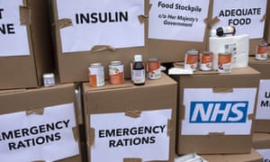 A mock-up of possible NHS stockpiling of medication in the event of a no-deal Brexit