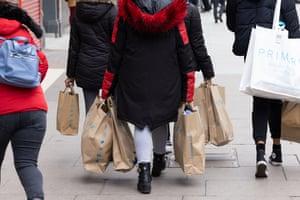 Bag-laden shoppers