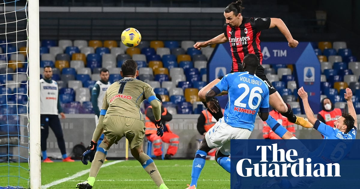 Milan sweat on Ibrahimovic injury after his double earns leaders win at Napoli