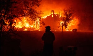 A home burns in Vacaville, California. As of the late hours of 18 August 2020 the Hennessey fire has merged with at least seven fires and is now called the LNU Lightning Complex fires. .
