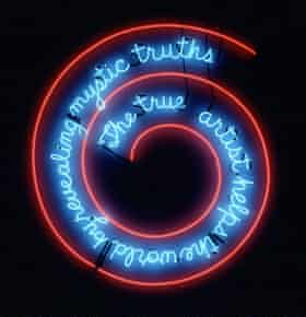 Truth or hokum? … The True Artist Helps the World by Revealing Mystic Truths (Window or Wall Sign).