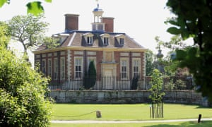 The Blairs' house in South Pavilion, Wooton Underwood, Buckinghamshire.