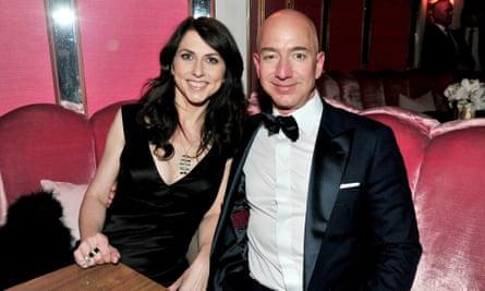 Jeff Bezos with his wife, MacKenzie.