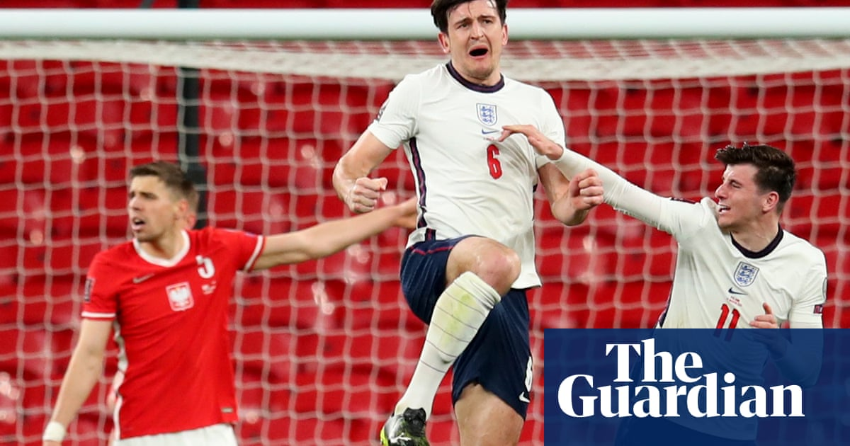 Maguire's blast bails out Stones as England scrape nervy win over Poland