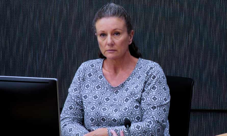 Kathleen Folbigg appears in court via videolink, Sydney, 1 May, 2019.