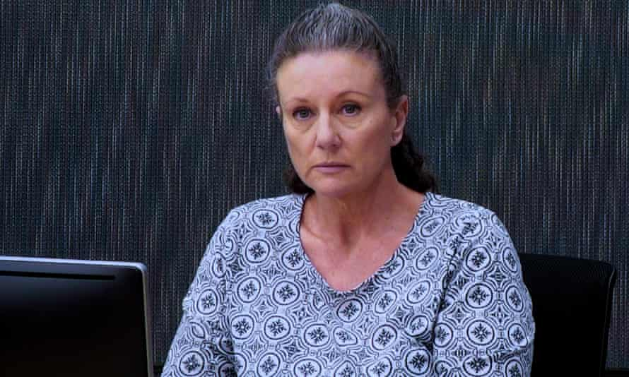Kathleen Folbigg appears via video link during a convictions inquiry at the NSW coroners court in 2019.