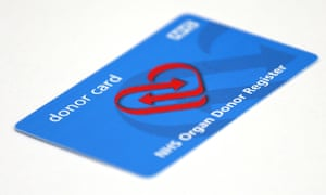NHS organ donor card (2014). The BMA believes Wales has saved dozens of lives since adopting the transplant opt-out system in the last six months.