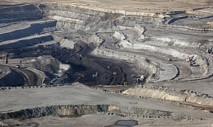 An opencast coal mine in Wyoming