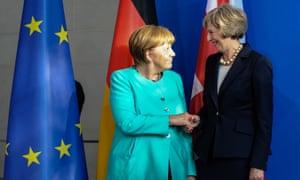 Theresa May with Angela Merkel in Berlin last week