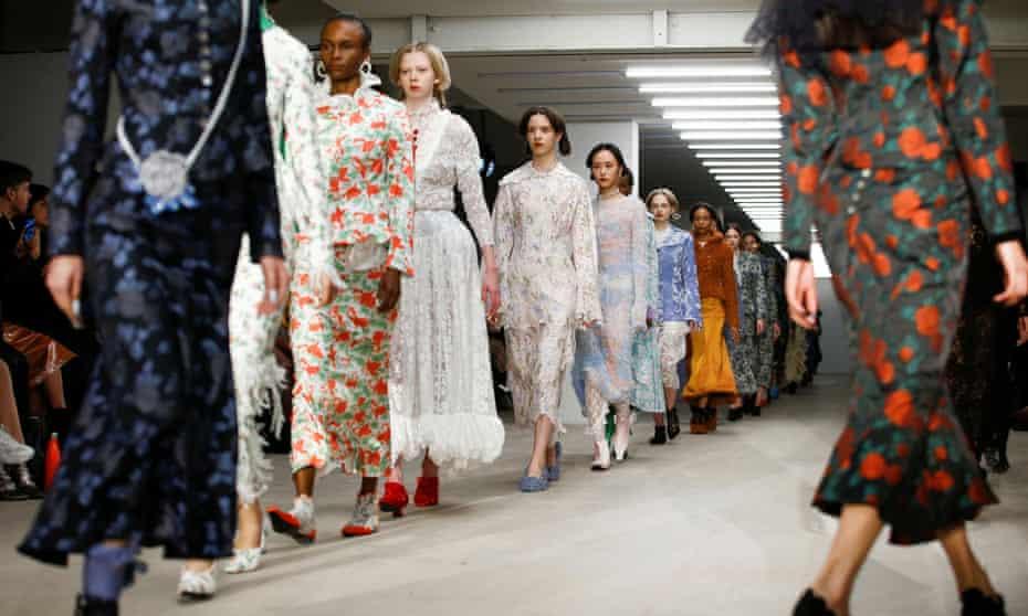 Designs by Yuhan Wang at London fashion week