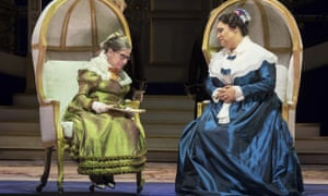 Ruth Bader Ginsburg, left, as the Duchess of Krakenthorp in a dress rehearsal. Seated next to her is Deborah Nansteel as the Marquise of Berkenfield.