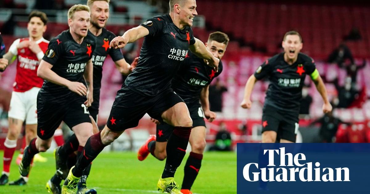 Tomas Holes ruins Arsenal's night as Slavia Prague snatch last-gasp equaliser