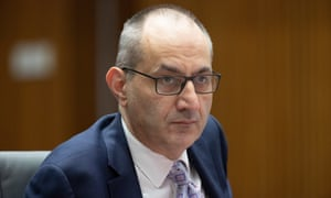 The secretary of the department of home affairs Michael Pezzullo.