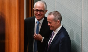 Malcolm Turnbull and Bill Shorten in parliament: only 34% think politicians are good at difficult decisions.