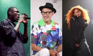 Stormzy, Jeff Goldblum and Janet Jackson.